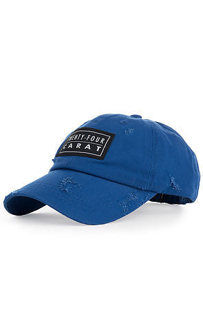 """Destroyed"" Dad Cap - Royal Blue"
