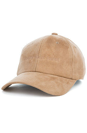 """Suede Tonal"" Dad Cap - Tan"