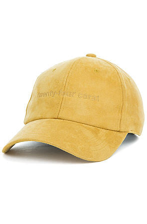 """Suede Tonal"" Dad Cap - Mustard Yellow"