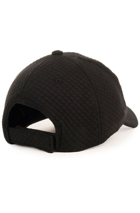 """Quilted Sweater"" Dad Cap - Black"