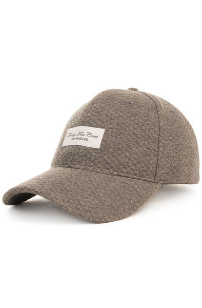 """Quilted Sweater"" Dad Cap - Charcoal Grey"
