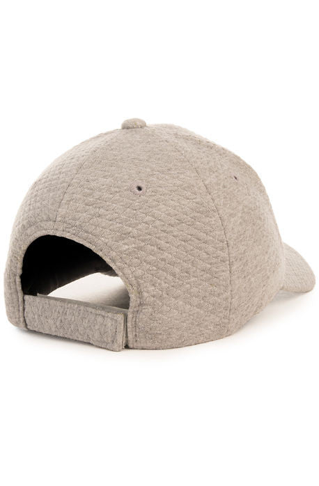 """Quilted Sweater"" Dad Cap - Heather Grey"