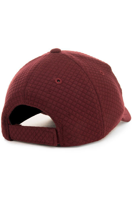 """Quilted Sweater"" Dad Cap - Maroon"