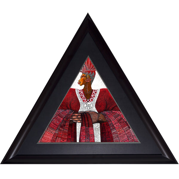 Crimson Crown  # 2  (Framed) - bibbsdesign.com