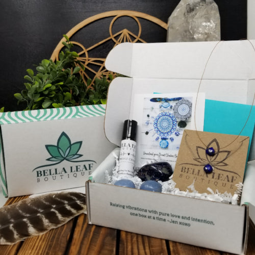 Beautiful Intentions Box - Jewelry, Essential Oils and Crystals