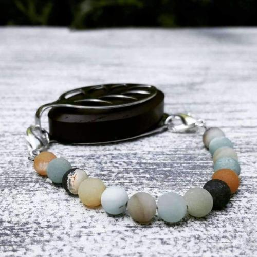 Amazonite Bellabeat Leaf Bracelet