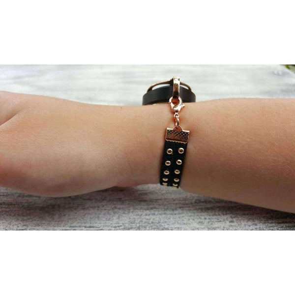 Black As Night Stud Bellabeat Leaf Bracelet