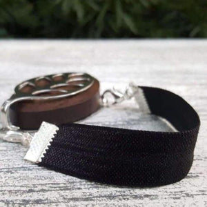 Black Elastic Bellabeat Leaf Bracelet