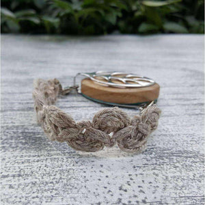 Country Linen Lace Bellabeat Leaf Bracelet