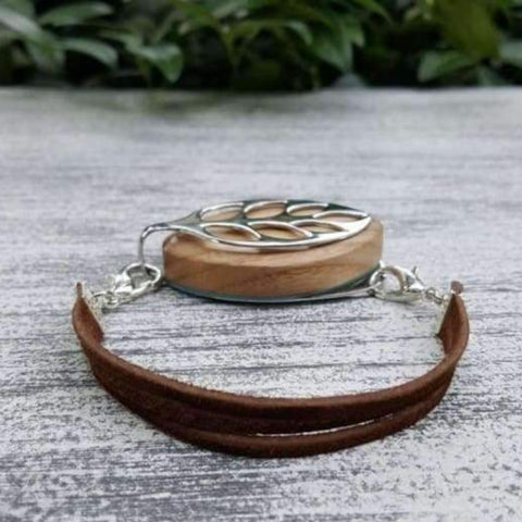 Country Suede Bellabeat Leaf Bracelet