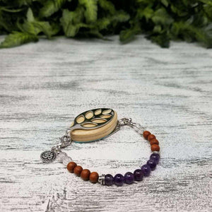 Crown Chakra Mala Bellabeat Leaf Bracelet