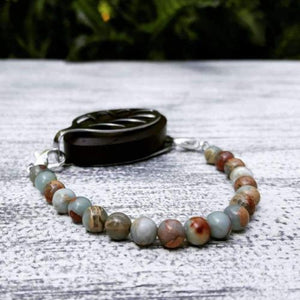 Earth Jasper Bellabeat Leaf Bracelet