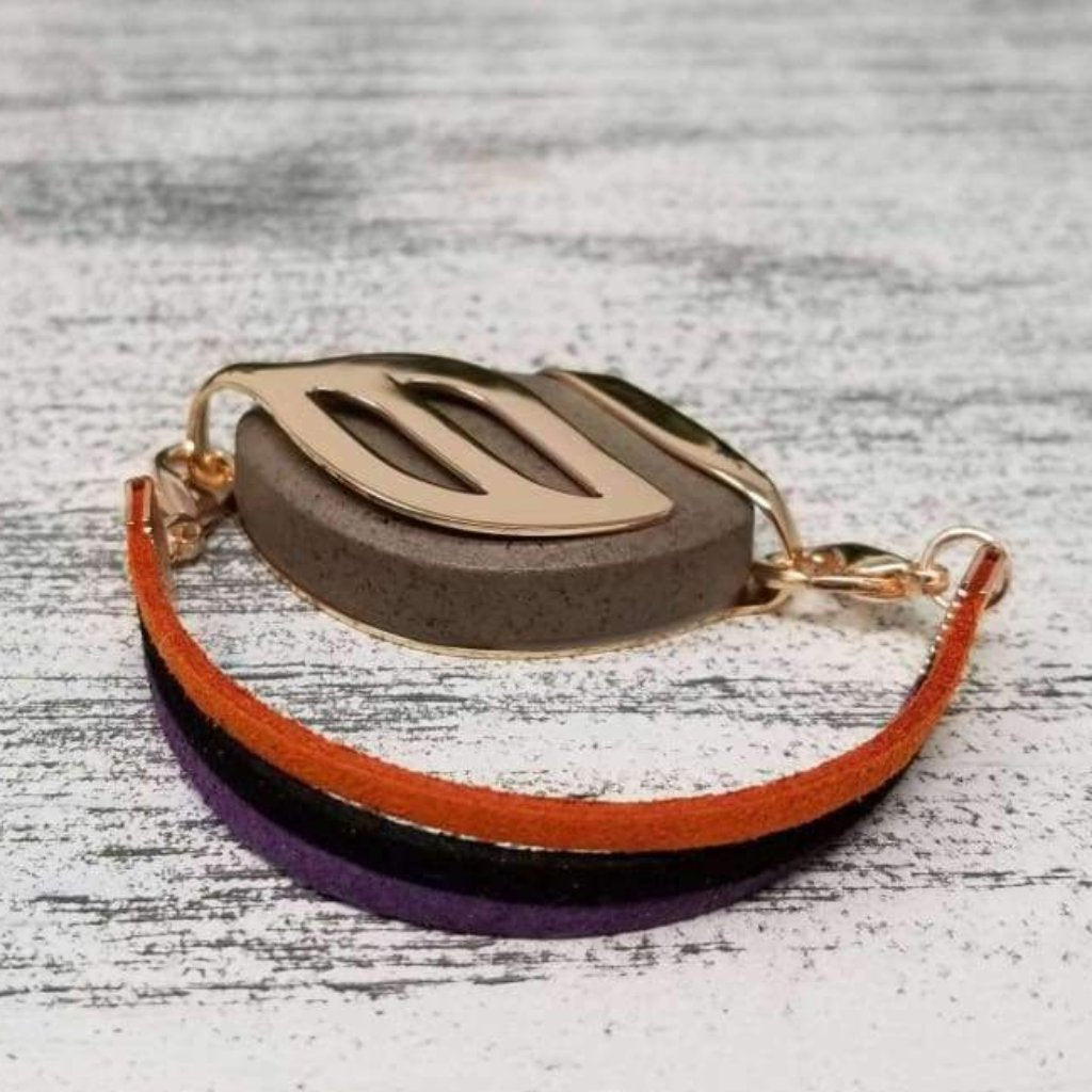 Fall Faux Suede Bellabeat Leaf Bracelet