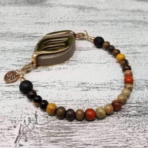 Grounding Earth Aromatherapy Bellabeat Leaf Bracelet
