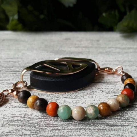 Grounding Earth Mala Bellabeat Leaf Bracelet