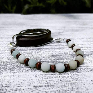 Midnight Amazonite Bellabeat Leaf Bracelet