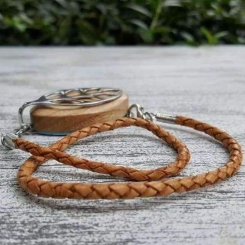 Natural Wrap Leather Bolo Bellabeat Leaf Bracelet