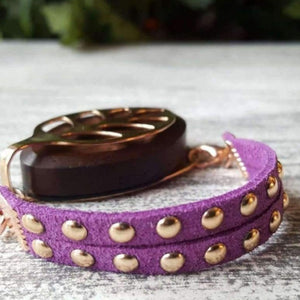 Plum Stud Bellabeat Leaf Bracelet