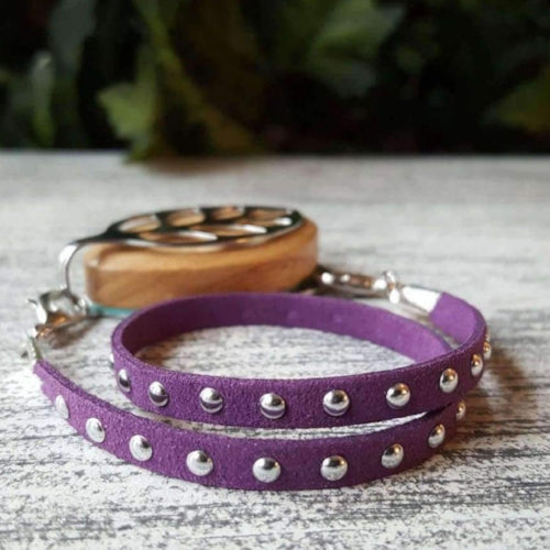 Plum Stud Wrap Bellabeat Leaf Bracelet