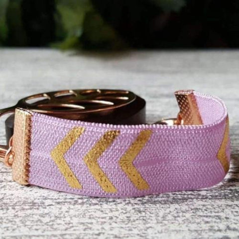 Purple Arrow Elastic Bellabeat Leaf Bracelet