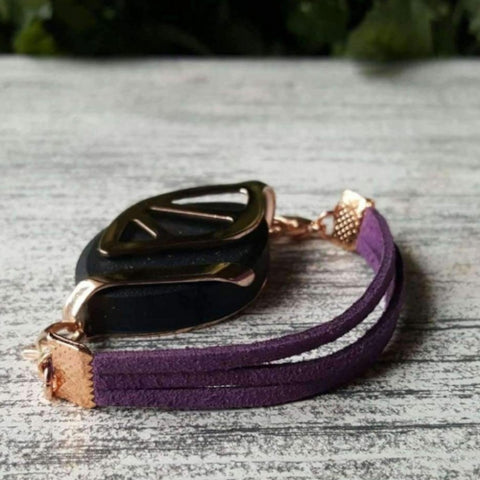 Purple Faux Suede Bellabeat Leaf Bracelet