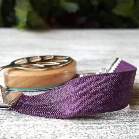Purple Passion Elastic Bellabeat Leaf Bracelet