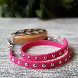 Raspberry Stud Wrap Bracelet for Bellabeat Leaf