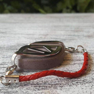 Red Leather Bolo Bellabeat Leaf Bracelet