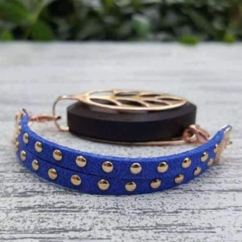 Royal Blue Stud Bellabeat Leaf Bracelet
