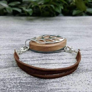 RTS - Country Suede Bellabeat Leaf Bracelet