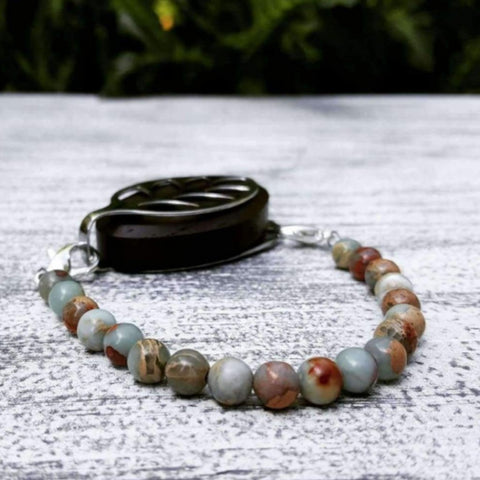 RTS -  Earth Jasper Bellabeat Leaf Bracelet
