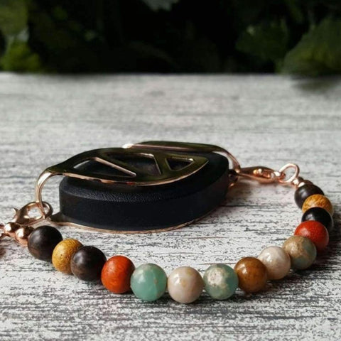 RTS - Grounding Earth Mala Bellabeat Leaf Bracelet