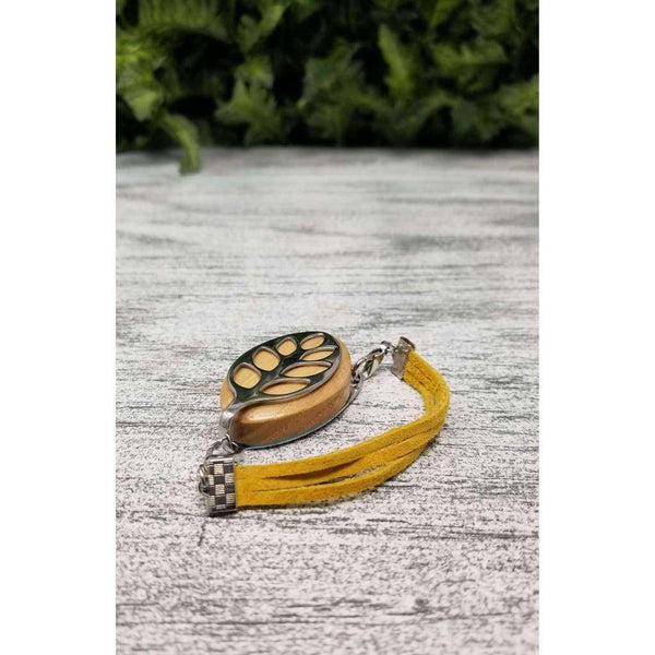 RTS - Honey Suede Bellabeat Leaf Bracelet