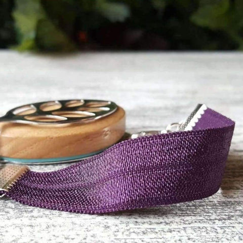 RTS - Purple Passion Elastic Bellabeat Leaf Bracelet