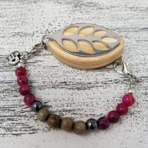 RTS - Strength Mala Bellabeat Leaf Bracelet