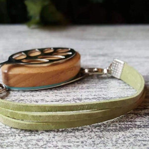 RTS - Sweet Green Suede Bellabeat Leaf Bracelet