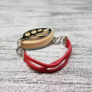 Vermont Apple Suede Bellabeat Leaf Bracelet