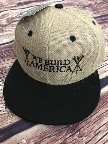 Jute Flatbill OG We Build America Logo