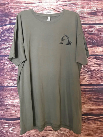 Army Green Excavator Tee