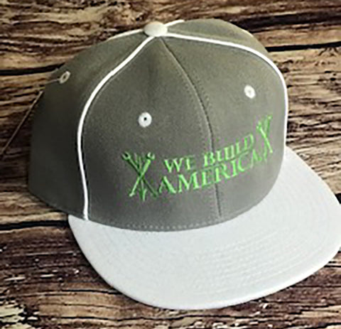Grey & Lime Green OG We Build America Snapback