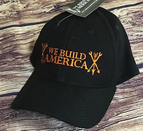 Black & Orange OG We Build America Flexfit