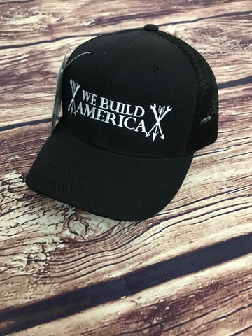 Black & White Curved bill OG We Build America Snapback