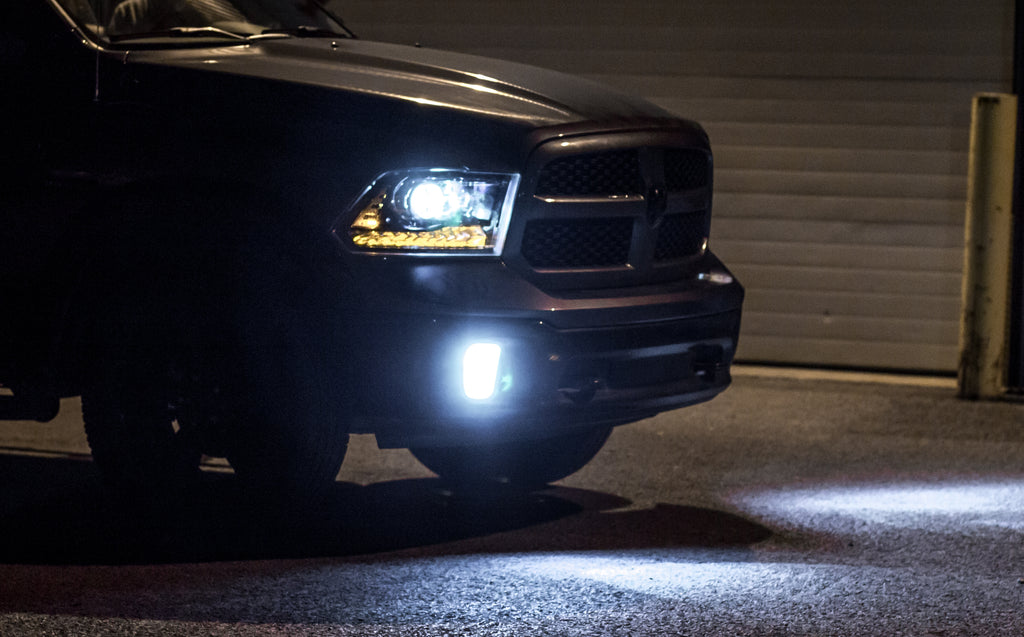 DODGE RAM 1500 with full LED conversion headlight and foglights