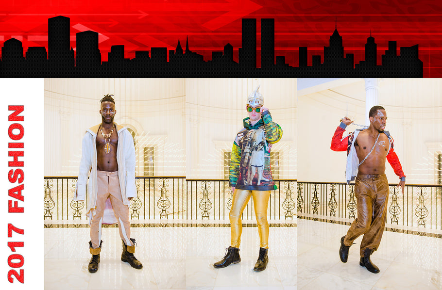 NLW male models are a hit at NYC fashion week in Harlem.
