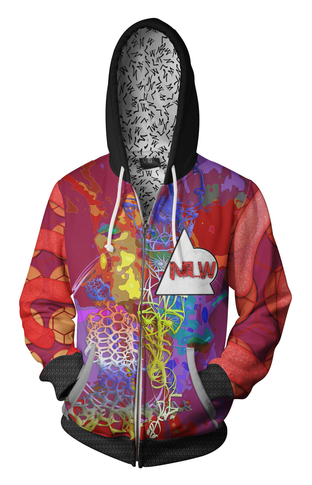 Honeycomb and Dancers-Adult Zip-Up Hoodie