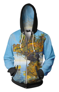 Island Life-Adult Zip-Up Hoodie