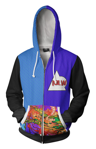 Thought-head Harlequin-Adult Zip-Up Hoodie