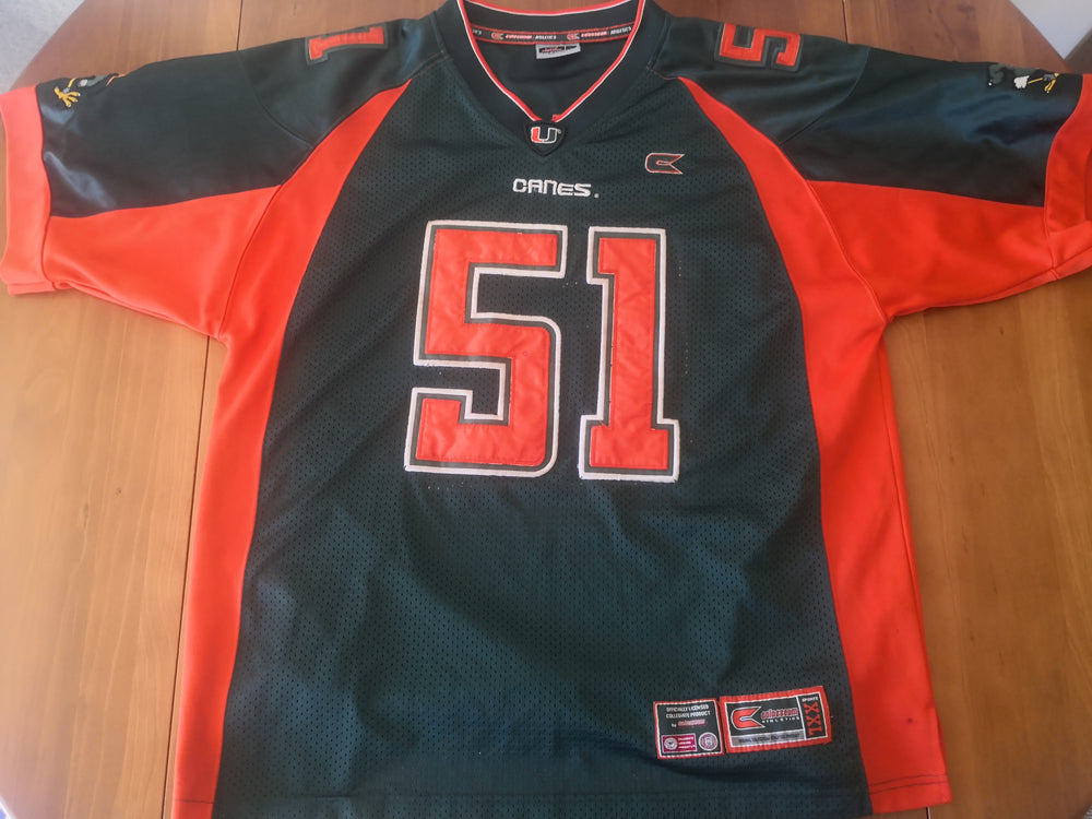 Vinatge Miami College Football Jersey