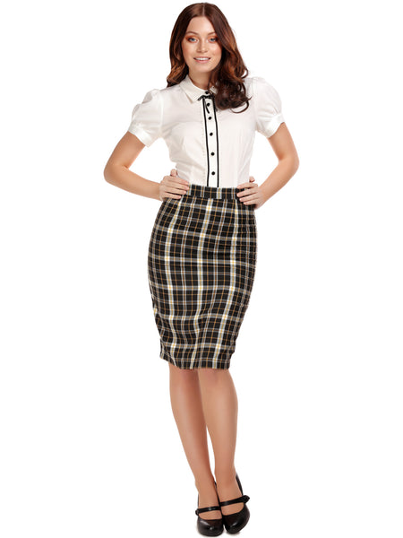 Polly Pencil Skirt - Geek Check