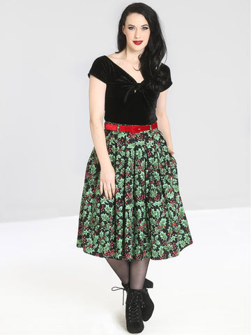 Holly Berry 50's Skirt